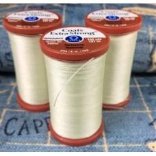 Thread EXTRA Strong Polyester 182m Ivory by Coats and Clark