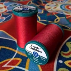 Thread Outdoor Polyester 182m Red by Coats and Clark