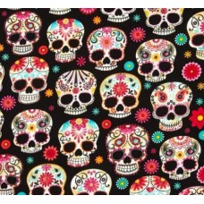 Day Of The Dead Skulls Black by Timeless Treasures