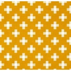 Four Corner Weave Gold Cotton Fabric by Riley Blake