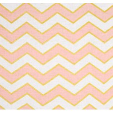 Metallic Glitz Chevron in Pearlized Confection by Michael Miller Cotton Fabric