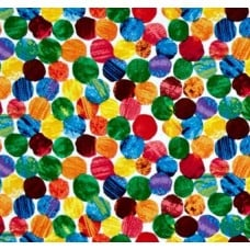 REMNANT - Very Hungry Caterpillar Abstract Dots Cotton Fabric