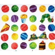 Very Hungry Caterpillar Dots Large Scattered Fruit Cotton Fabric