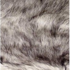 Faux Fur Luxury Husky White Black Fabric