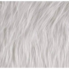Faux Fur Luxury Ice White Fabric