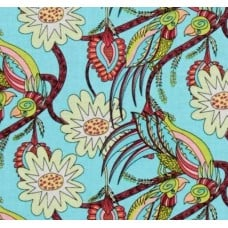 Flock Together Chatting Birds Pretty Cotton Fabric by Kathy Doughty