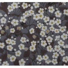Tana Lawn Mitsi Cotton Fabric in Grey by Liberty of London