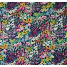 Tana Lawn Painters Meadow Cotton Fabric in Blue by Liberty of London