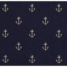 Anchors Away Out to Sea Cotton Fabric in Navy by Michael Miller
