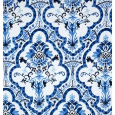 Blue and White Toujours Bleu et Blanc Blue Cotton Fabric by Michael Miller