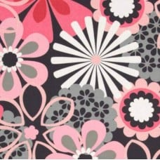 Contemporary Florals Flower Shower Petal Pink Cotton Fabric by Michael Miller