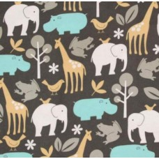 Flannel Baby Zoology Cotton Fabric by Michael Miller