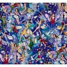 Flower Fairies Enchanted Fairies Twilight Cotton Fabric by Michael Miller