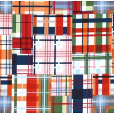 Going Coastal Collection Patchwork Plaid Multi Cotton Fabric by Michael Miller