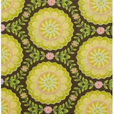 Helens Garden Dahlia Medallion Mineral Cotton Fabric by Michael Miller