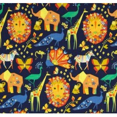 Origami Oasis Pride Navy Cotton Fabric by Michael Miller