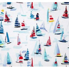 Regatta Marine Cotton Fabric by Michael Miller