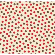 Funky Monkey Dots Cream Cotton Fabric by Moda
