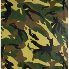 Mexican Oilcloth Laminated Fabric Camouflage Green