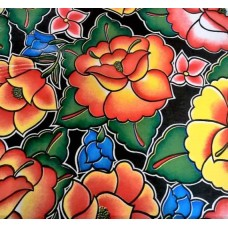 Mexican Oilcloth Laminated Fabric Floral
