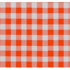 Mexican Oilcloth Laminated Fabric Gingham Orange