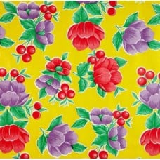 Mexican Oilcloth Laminated Fabric Poppy Yellow