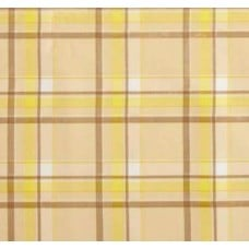 Mexican Oilcloth Laminated Fabric Scottish Plaid Yellow
