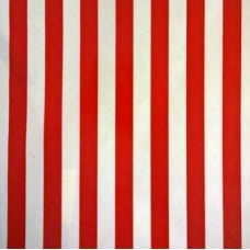 Mexican Oilcloth Laminated Fabric Stripes Red