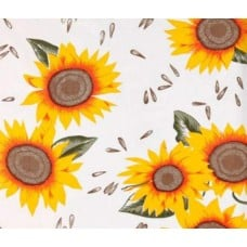 Mexican Oilcloth Laminated Fabric Sunflowers