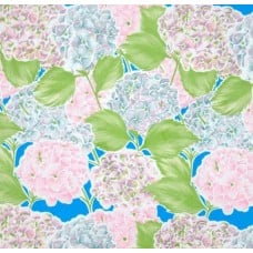 Mexican Oilcloth Laminated Hydrangea Blue