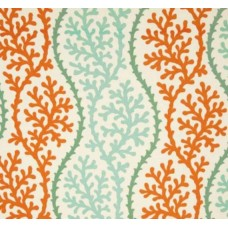 Coral Splendour in Coral Outdoor Fabric
