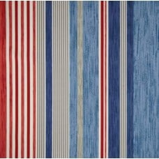 Stripe Blue Marine Indoor Outdoor Fabric by P Kaufmann