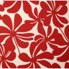 A Jumbo Petals in Red & White Outdoor Fabric