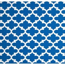 Fulton In White and Cobalt Home Decor Cotton Fabric