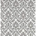 Holly Leaf Indoor Outdoor Fabric in Grey and White