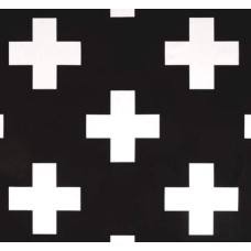 Swiss Cross Jumbo Home Decor Fabric in Black