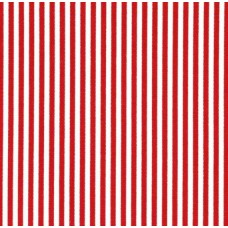 Ticking Thin Stripe Cotton Fabric Red White Ticking