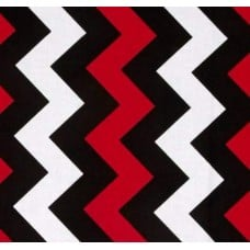 Chevron Medium Red Black Cotton Fabric by Riley Blake