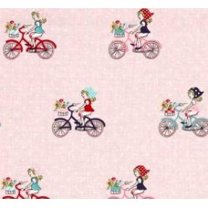 Vintage Market in Pink Cotton Fabric by Riley Blake