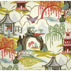 Neo Toile Coral Home Decor Print Fabric by Robert Allen @ Home