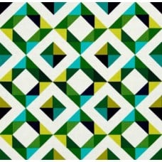 Geo Pop Home Decor Cotton Fabric Diamond Emerald by Robert Kaufman