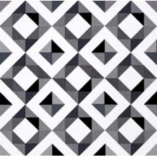 Geo Pop Home Decor Cotton Fabric Diamond Plaid in Monochrome
