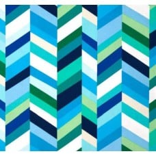 Geo Pop Home Decor Cotton Fabric Stripe Lagoon by Robert Kaufman