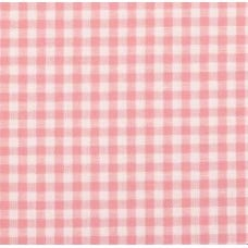 Gingham Cotton Fabric in Pink
