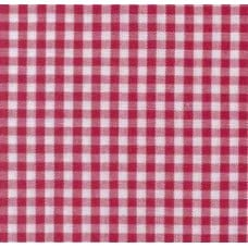 Gingham Cotton Fabric in Red
