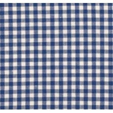 Gingham Cotton Fabric in Royal Blue
