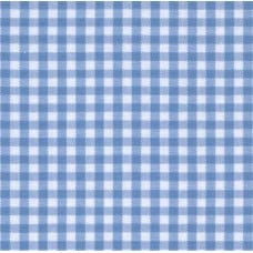 Gingham Cotton Fabric in Soft Blue