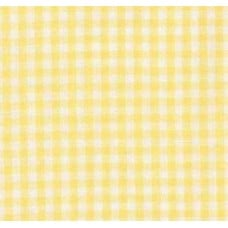 Gingham Cotton Fabric in Yellow