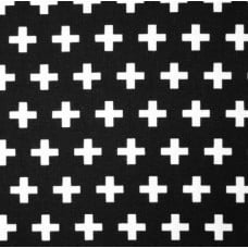 Remix Crosses Cotton Fabric in Black by Robert Kaufman