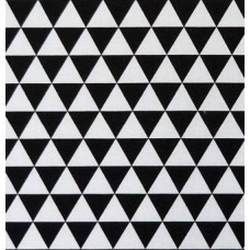 Remix Triangles Cotton Fabric in Black by Robert Kaufman